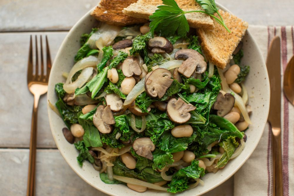 One Recipe, 3 Meals: White Beans, Mushrooms, and Greens ********** Tried it all 3 ways. Loved it, all of it. ~A