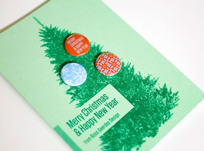 Idea: Holiday Cards with Buttons! Holiday card with buttons by RG DesignHoliday card with buttons by RG Design