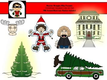 Christmas Vacation Clip Art Set Freebie Borders Clipart And