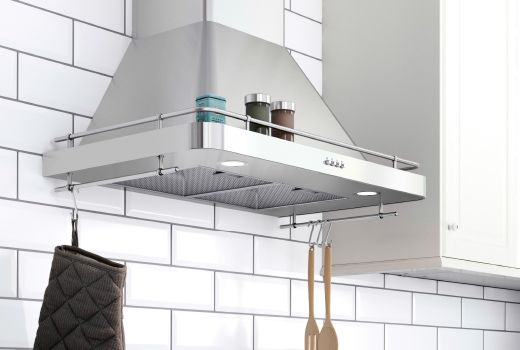 A Stainless Steel Wall Mounted Extractor Hood From Ikea