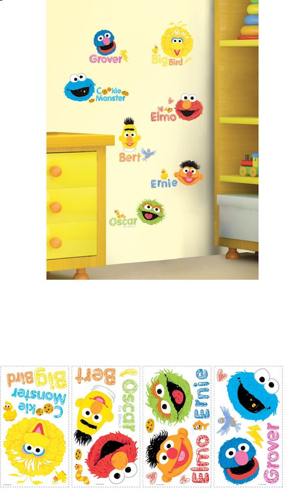 Sesame Street Scribble Wall Decals   Wall Sticker Outlet