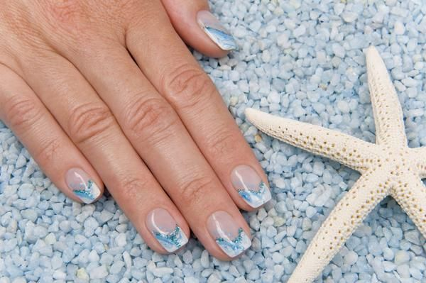 Beachy Nail Designs Unas Pinterest Colorful Nails