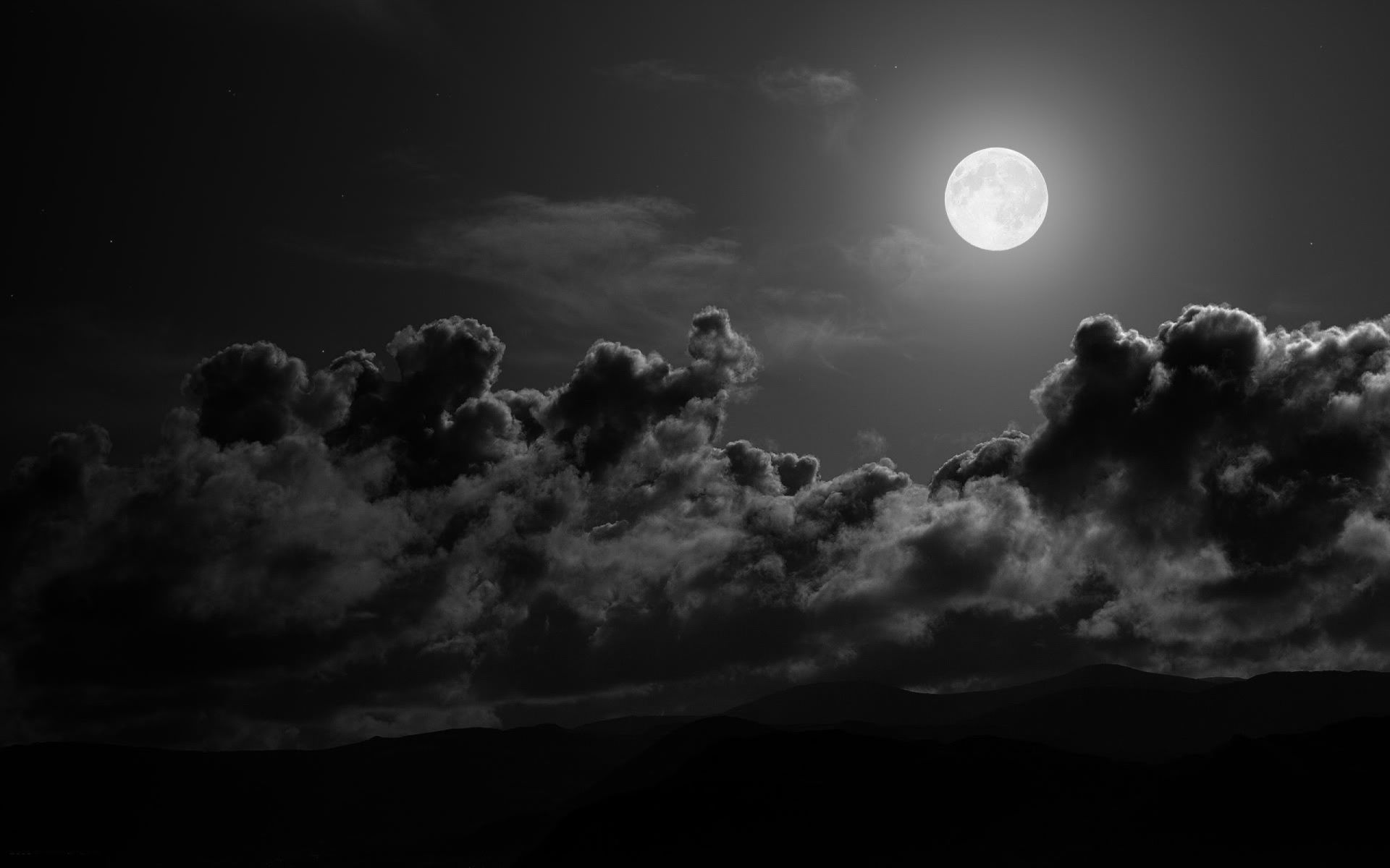 wallpapers full moon night - photo #10