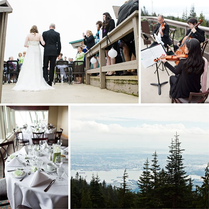 Outdoor Wedding Ceremony On The Timber Deck At Grouse Mountain Amara Spring Summer Weddings Engagements Pinterest Gown Al