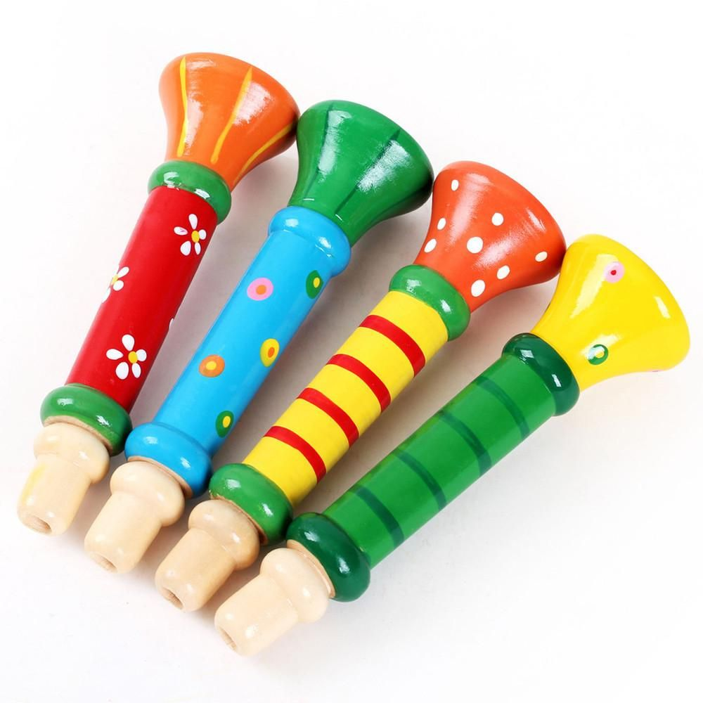 Plastic Trumpet Hooter Plastic Baby Musical Instrument Early Education Toys Lf