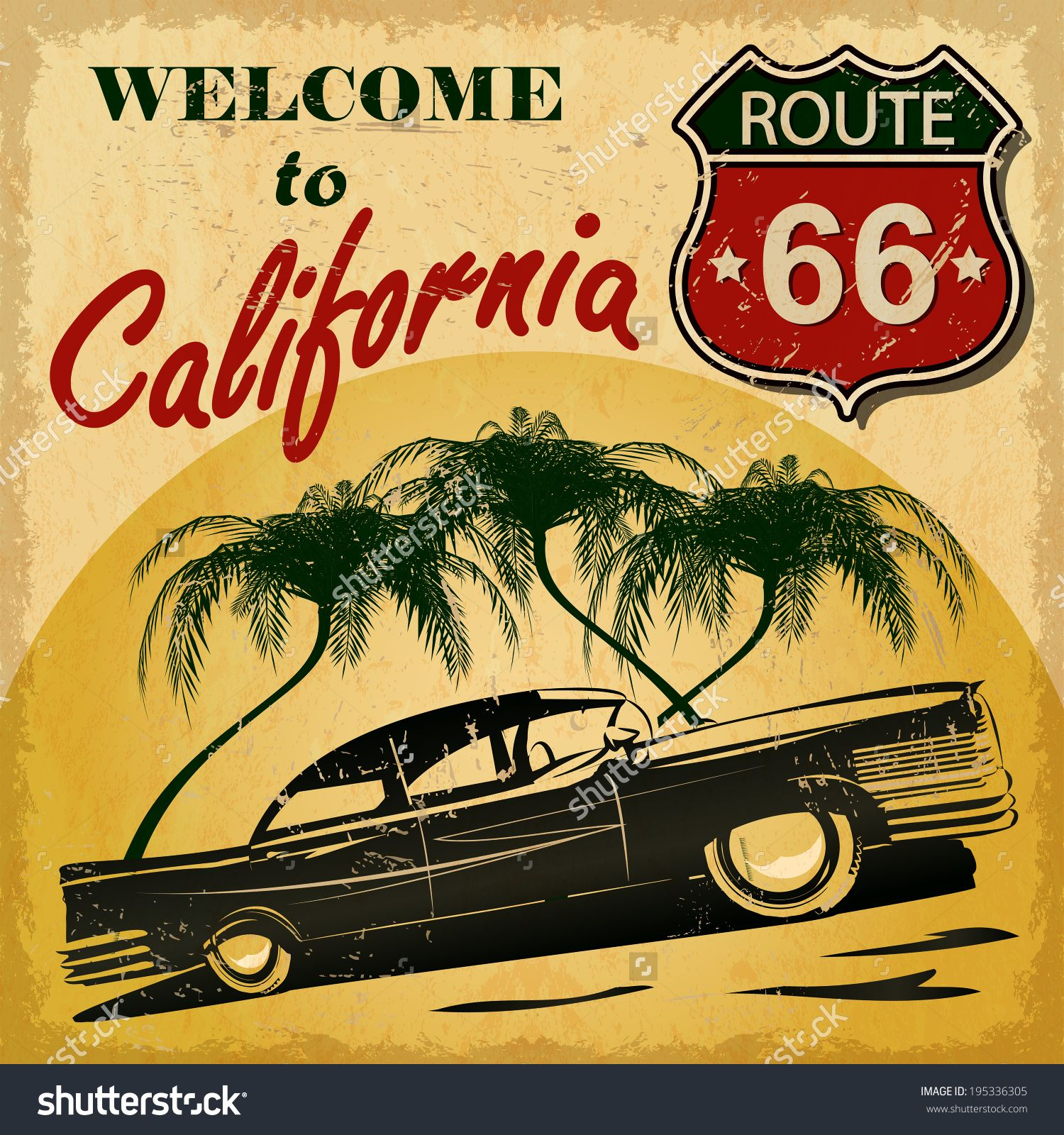 Welcome To California Retro Poster