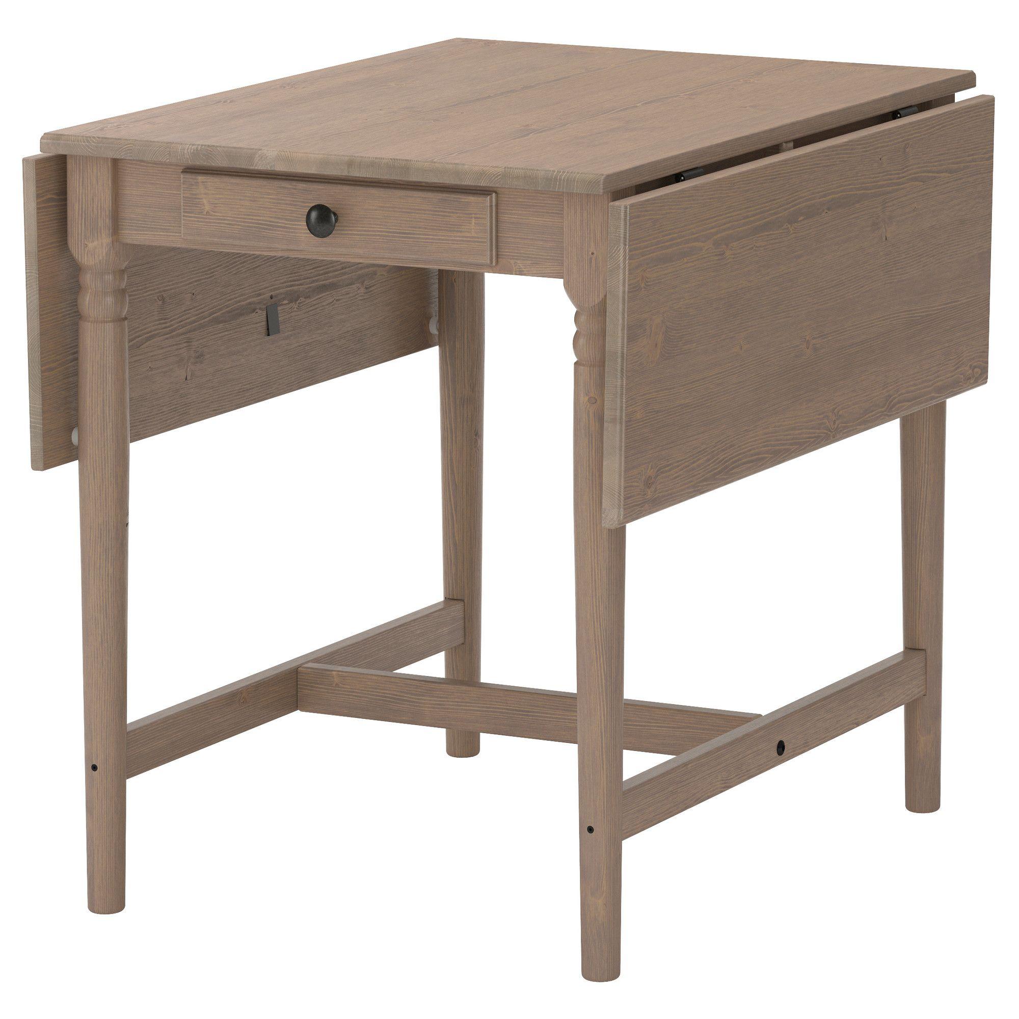 Ingatorp Drop Leaf Table Gray Brown 23 1 4 34 5 8 46 1