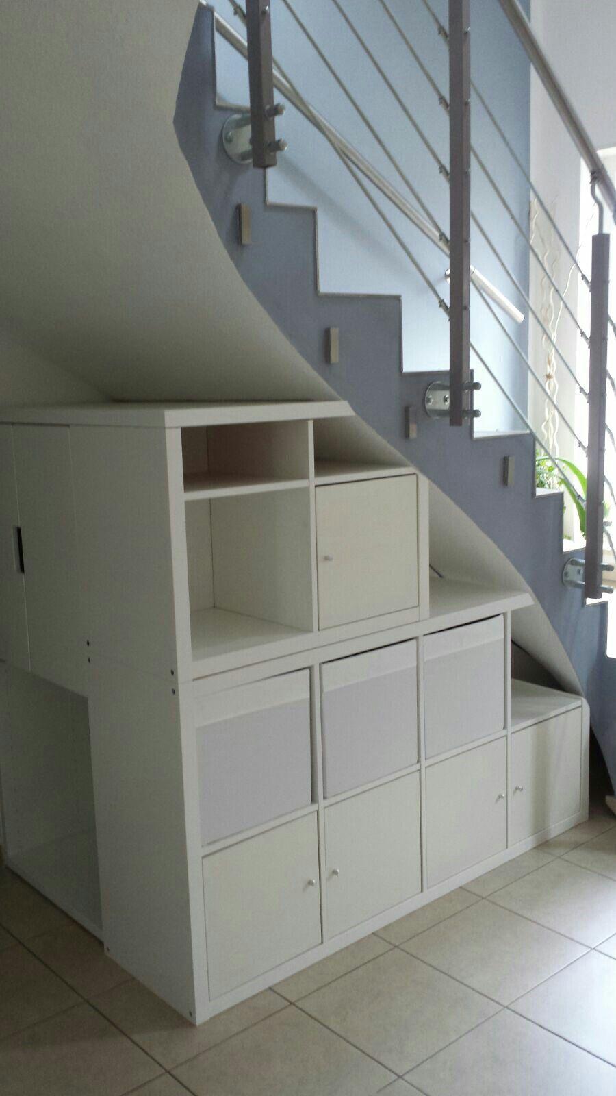 Regal Kallax Unter Der Treppe Als Abdeckung Haben Wir Eine