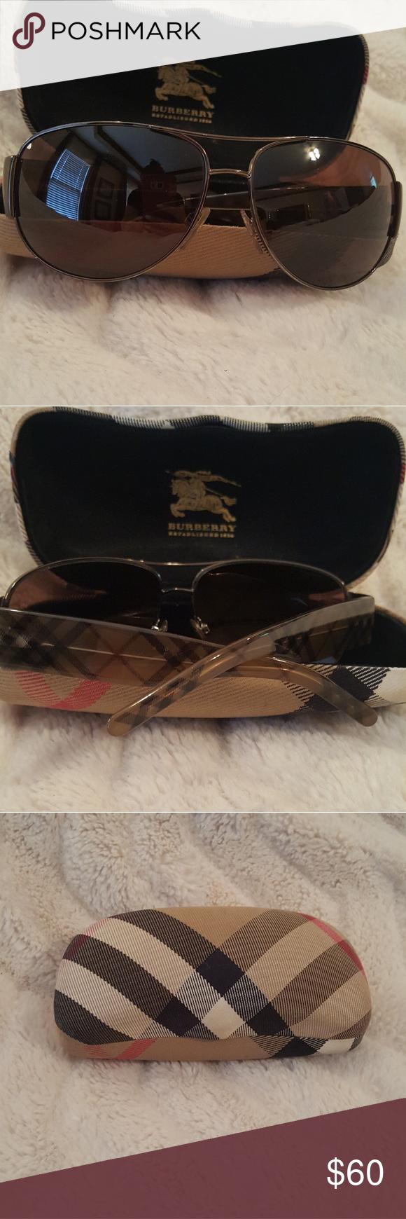 df0b30d215c5 Unisex Burberry Aviator Sunglasses Burberry Aviator tortoise shell  sunglasses. Good condition