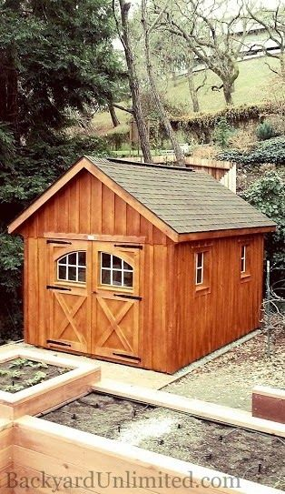 10 X12 Garden Shed With Board Amp Batten Siding Cedar