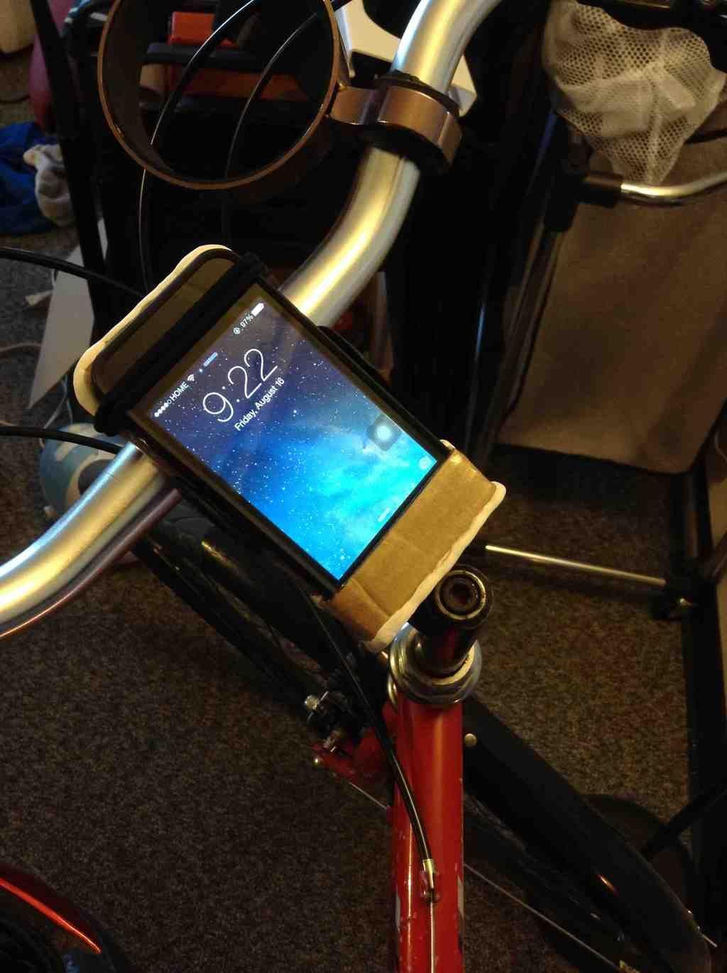 Phone Mount For Bike Using Cardboard Hair Ties And Sugru Diy