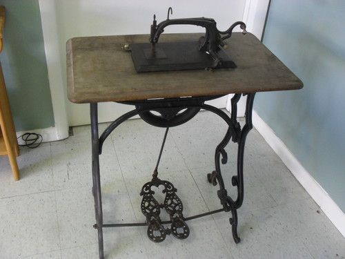 Love the old sewing stuff!   **RARE** Circa 1867 Antique Franklin Treadle Sewing Machine