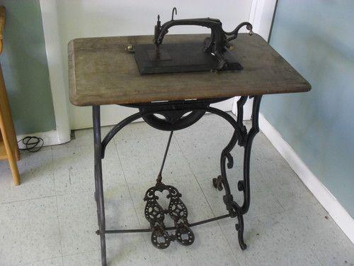 Love the old sewing stuff!   **RARE** Circa 1867 Antique Franklin Treadle Sewing Machine