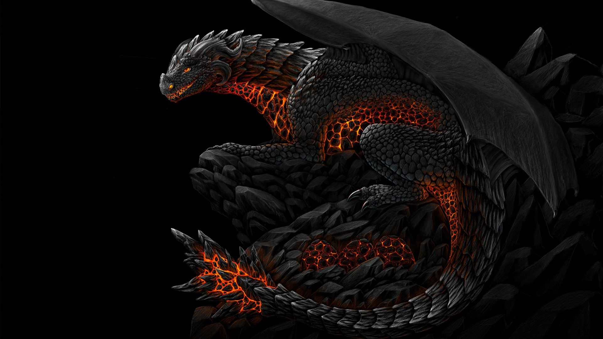 Dark Dragon DArk Dragon Fire Wallpaper With Resolutions