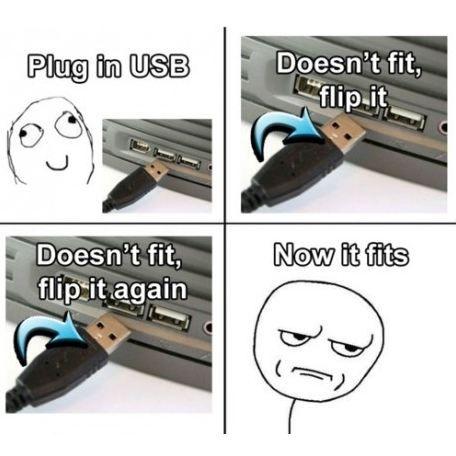 Plug in USB.