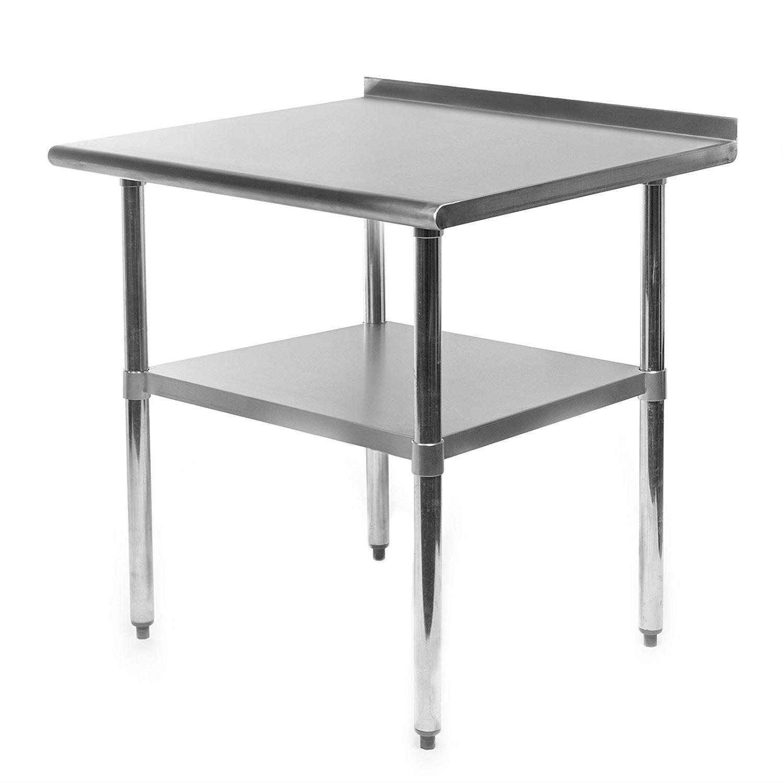 Heavy Duty 30 X 24 Inch Stainless Steel Restaurant Kitchen Prep Work Table With Backsplash Kitchen Work Tables Stainless Steel Table Kitchen Prep Table