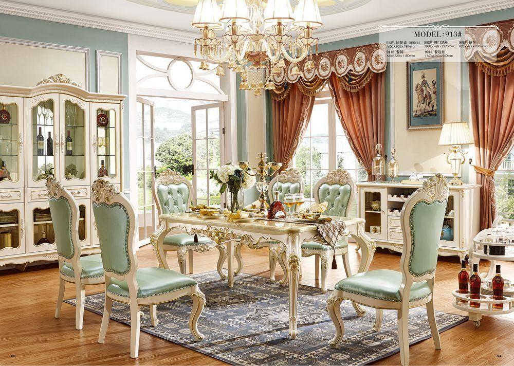 European Style Solid Wood Dining Room, European Dining Room Set