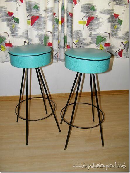 Cool Vintage 1950S Retro Turquoise Bar Stools From Dee Creativecarmelina Interior Chair Design Creativecarmelinacom