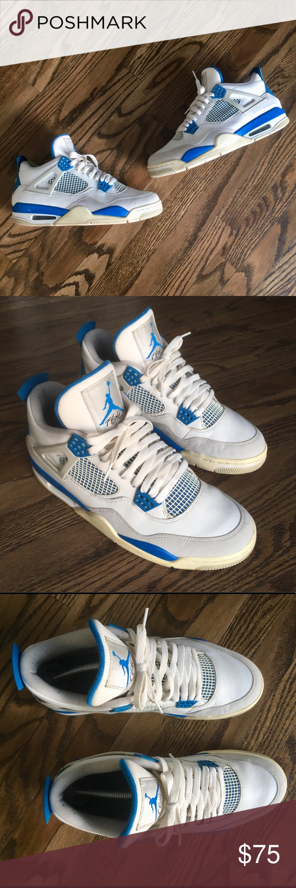 promo code 11254 ed63b Nike Air Jordan 4 Retro Military Blue 2012 Release Up for ...