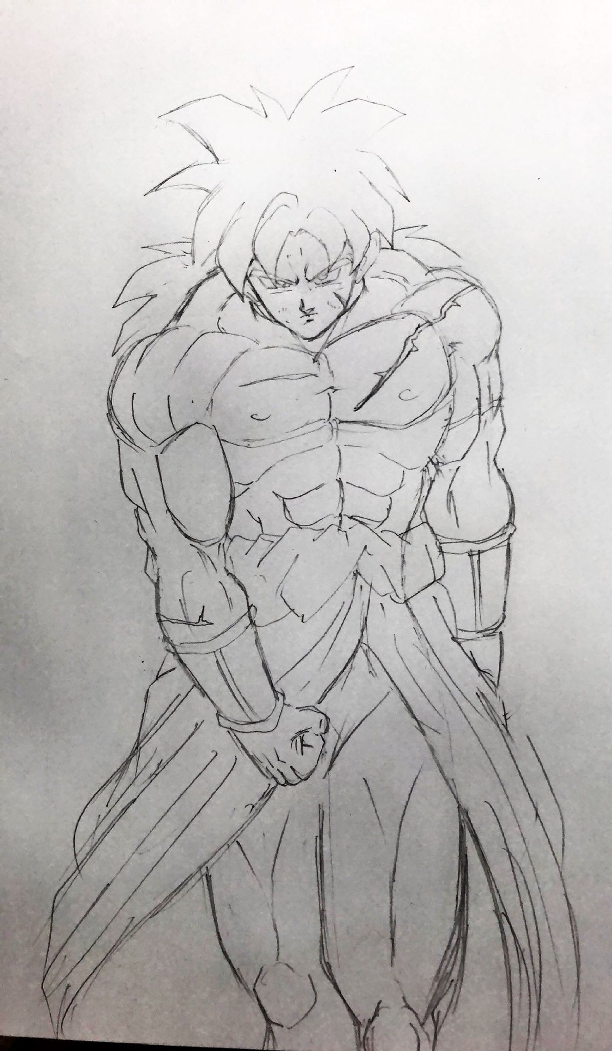 Dessin broly film 2018 kyakyoi twitter mine - Coloriage broly ...