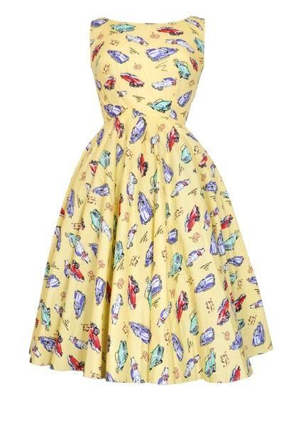 Rockabilly Vintage Car Dress Dresses Vintage Inspired Fashion Vintage Outfits