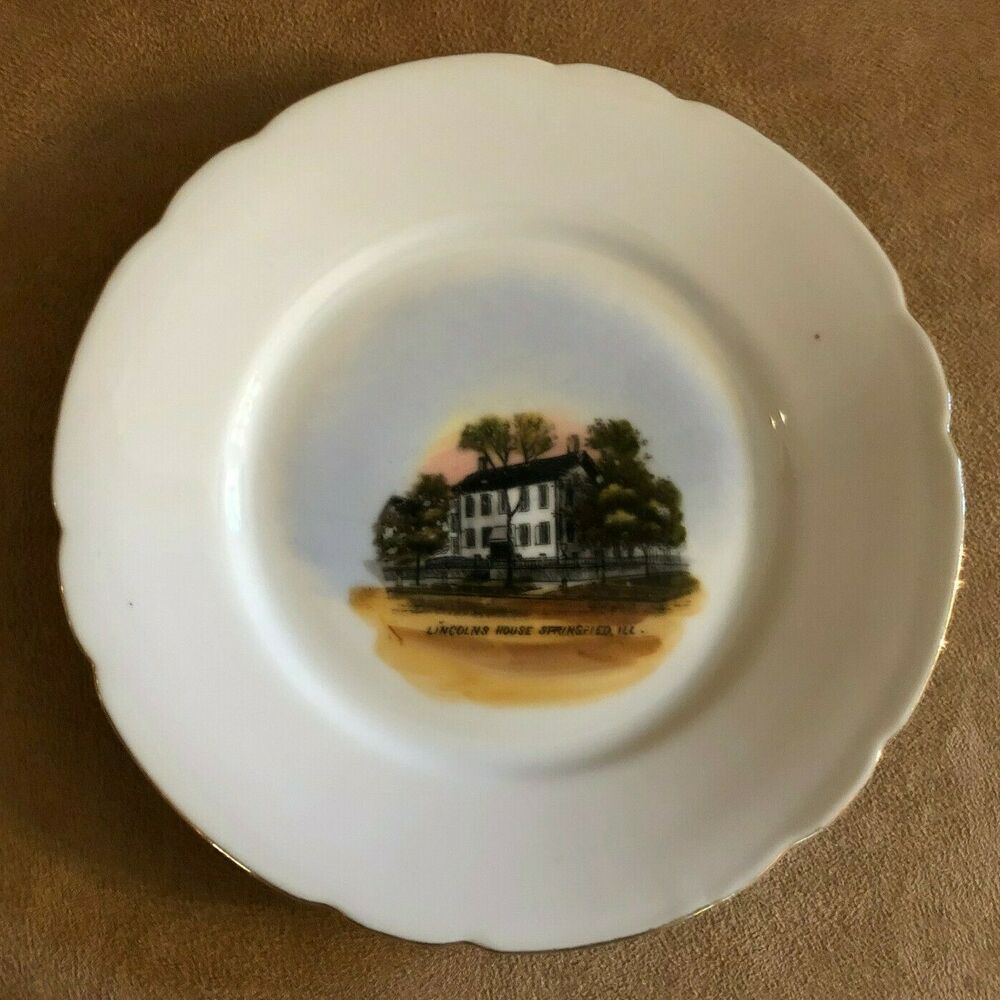 """Details about 6"""" Abraham Lincoln's House Plate GEBR"""