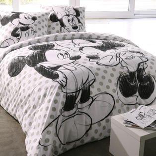 Housse De Couette Minnie Et Mickey 2 Personnes S Commesafran