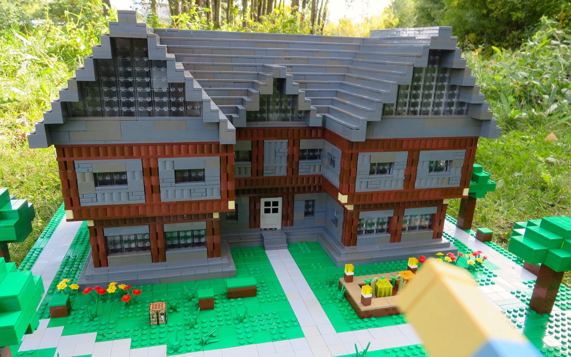 Lego Minecraft Steve S House In 2020 Lego Mansion Lego Minecraft Lego