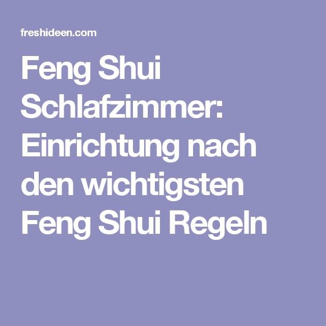 Feng Shui Schlafzimmer Einrichtung Nach Den Feng Shui Regeln Feng
