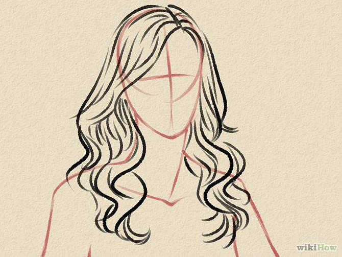 Draw Curly Hair | Hair steps