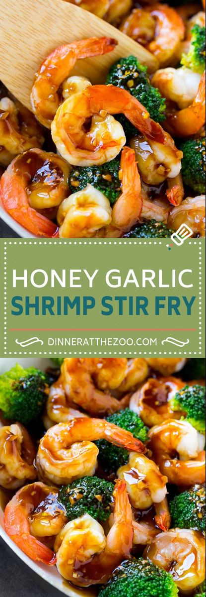 Honey Garlic Shrimp Stir Fry - Dinner at the Zoo