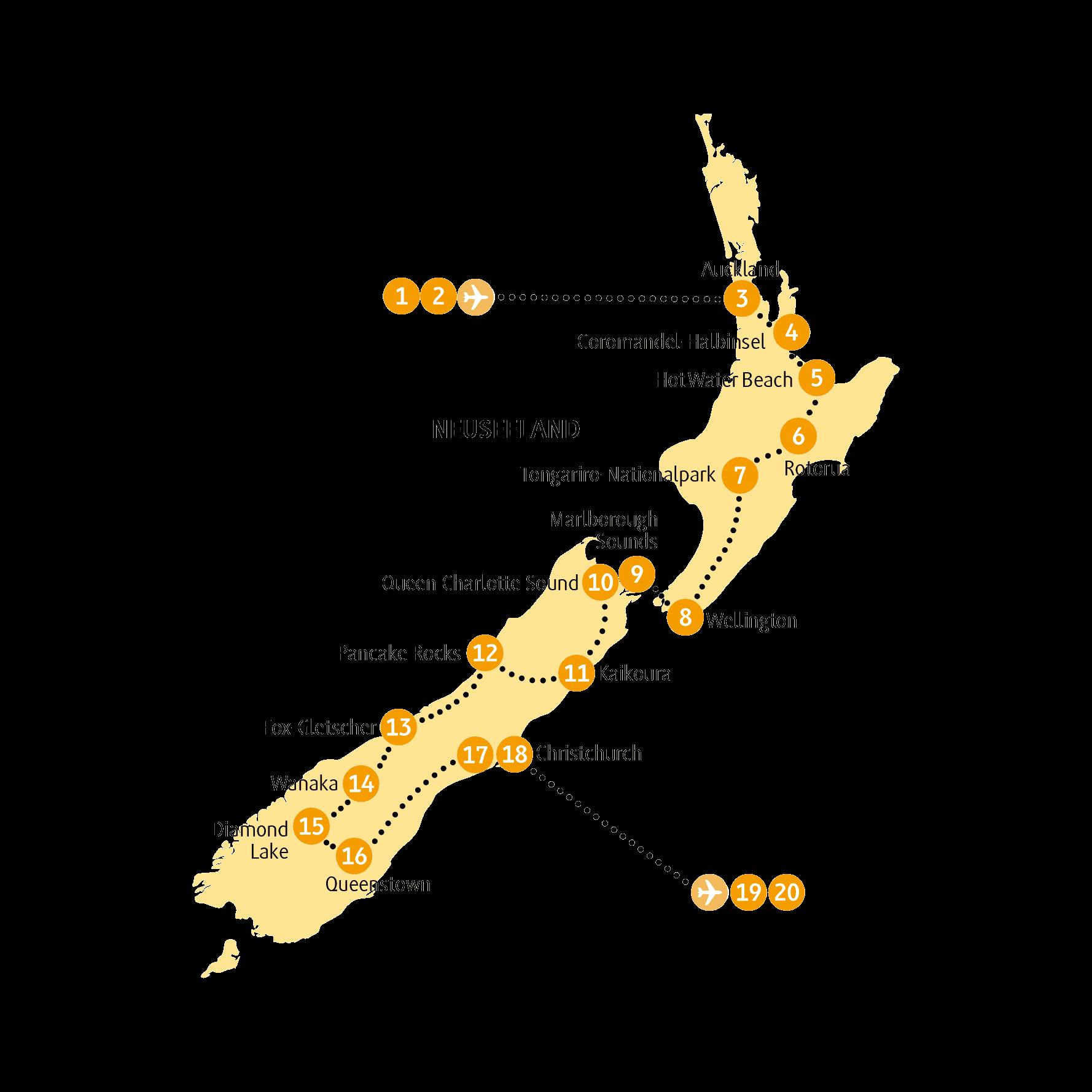 Pin Auf Neuseeland