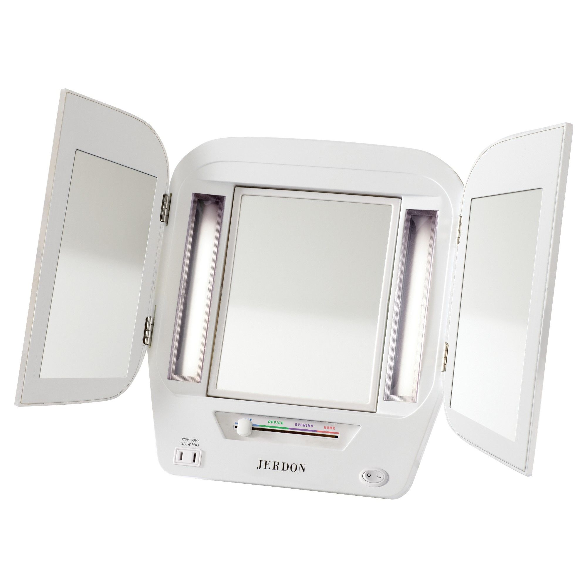 Jerdon Euro Fluorescent Lighted Makeup Mirror White