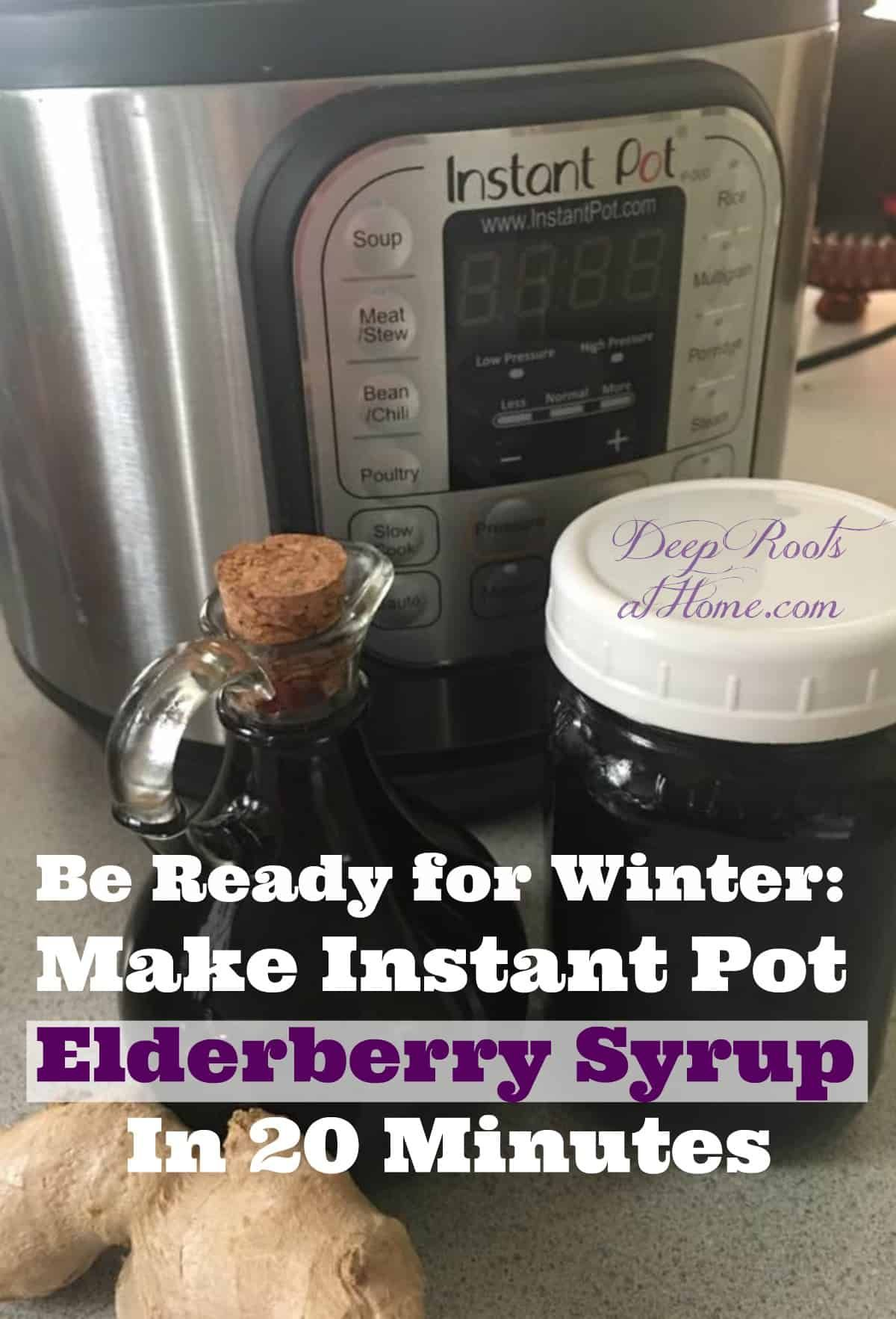 Be Ready for Winter: Instant Pot Elderberry Syrup In 20 Minutes