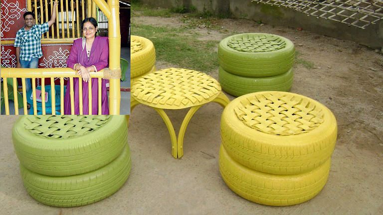 Waste Tyre Creativity Creative Ideas For Waste Material