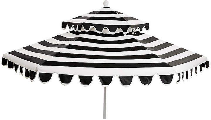 One Kings Lane Daiana Two Tier Patio Umbrella Black