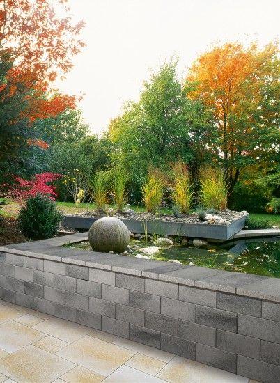 Unilock Belmuro Wall In Germany Garden Design Garden Design Layout Garden Design Plans