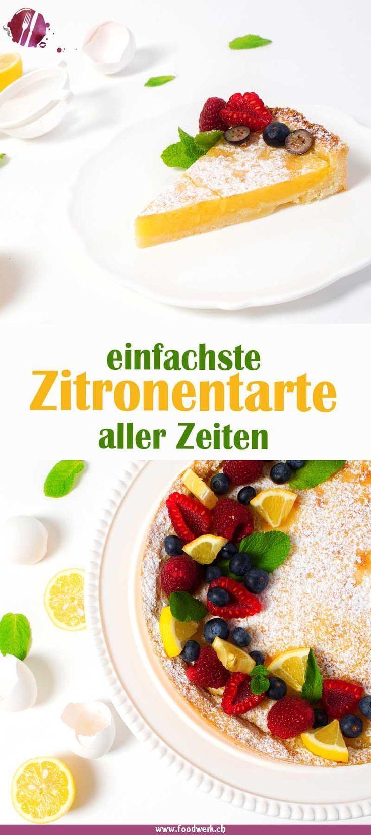 Erfrischende und schnelle Zitronentarte