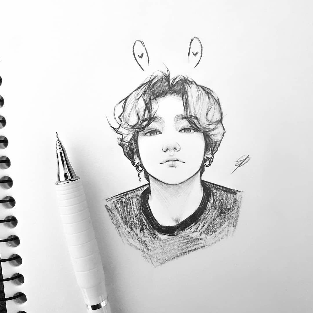 Shooky Dough Bts Btsfanart Fanart Jungkook Jungkookfanart Art Drawing Sketch Kpop Menggambar Dengan Pensil Sketsa Gambar Pensil