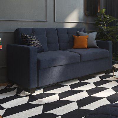 Signature Sleep Devon Sleeper Linen Sofa With Memoir Certipur Us Certified Memory Foam Mattress 2156729 Sofa Sofa Bed