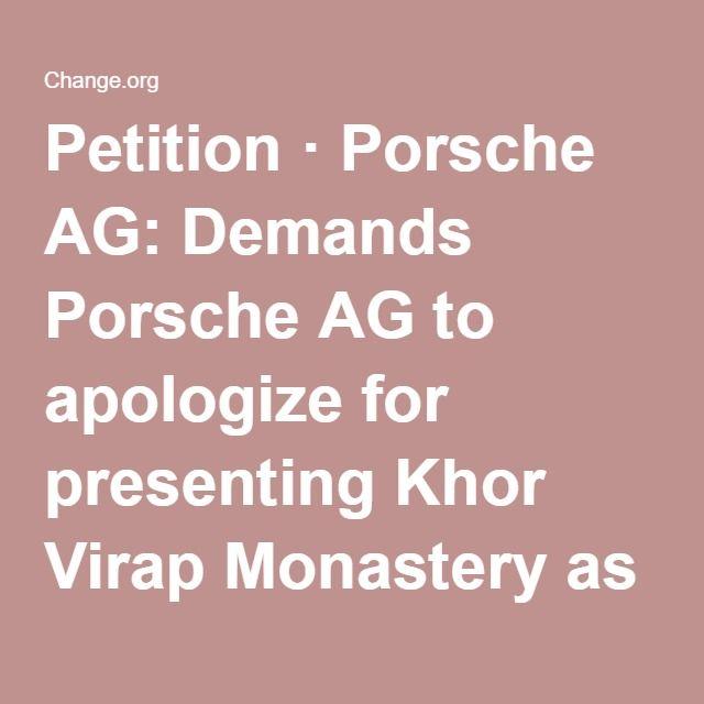 Petition  Porsche Ag Demands Porsche Ag To Apologize For