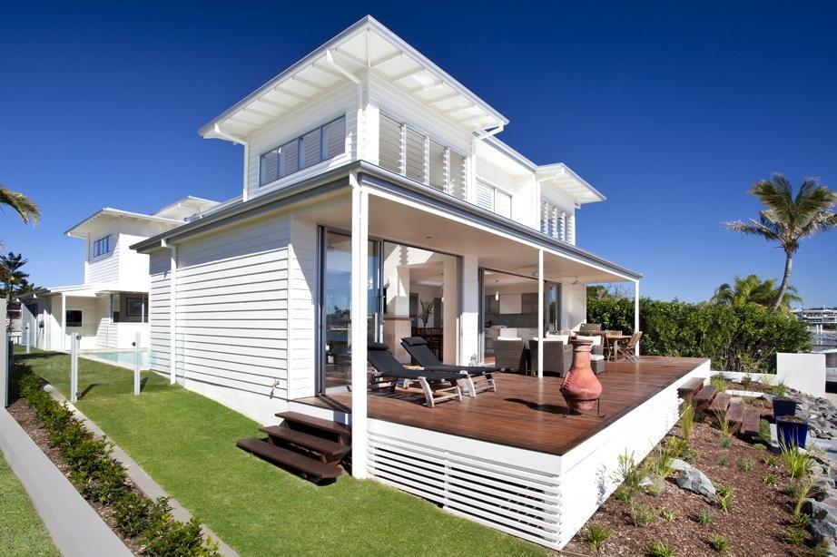 Mooloolaba Canal House Aboda Design Group Archello Beach House Design Beach Cottage Style Canal House