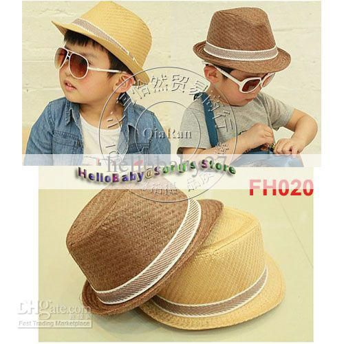 d3314e3ce7e Wholesale Summer Hats - Buy Children Summer Fedora Hats with Bands Kids  Jazz Caps Baby Straw Fedora Hats Children Dicers
