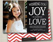 custom photo christmas card - joy and love.