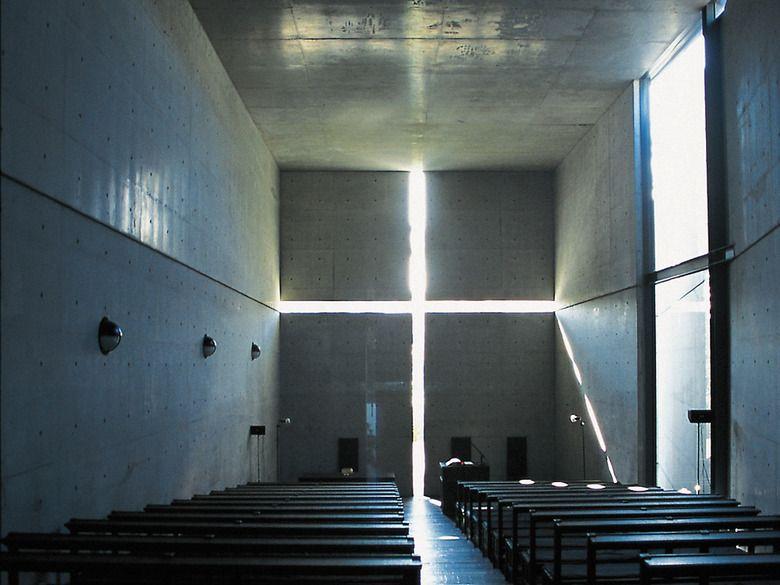 Diskussion auf den zweiten blick tadao andos kirche des for Innenraumdesign studieren