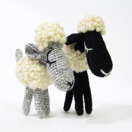 Amigurami Sheep! --Dead link, but great inspiration.  Love the faces.