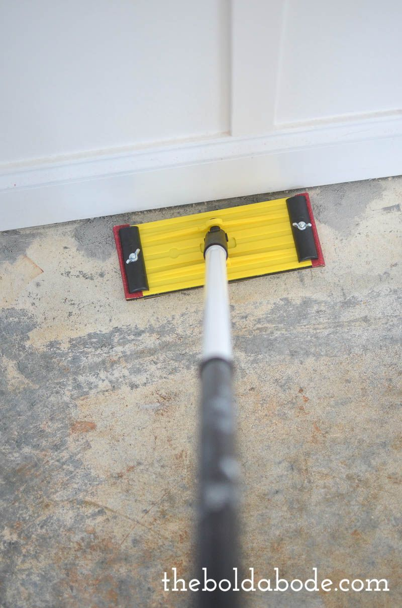 Diy How To Prep A Concrete Slab Floor For Painting Concrete