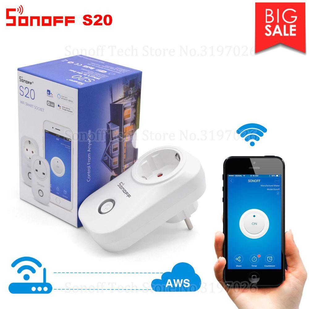 Sonoff S20 Smart Socket | Smart home interior & gadgets