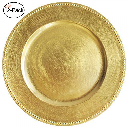 Tiger Chef 13-inch Gold Round Beaded Charger Plates Set ...   sc 1 st  Pinterest & Tiger Chef 13-inch Gold Round Beaded Charger Plates Set ... https ...