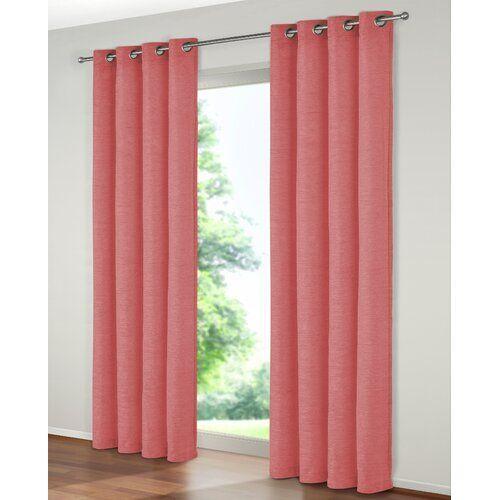 Ophelia Co Aldana Eyelet Room Darkening Single Curtain In 2020 Vorhange Blickdichte Vorhange Blickdicht